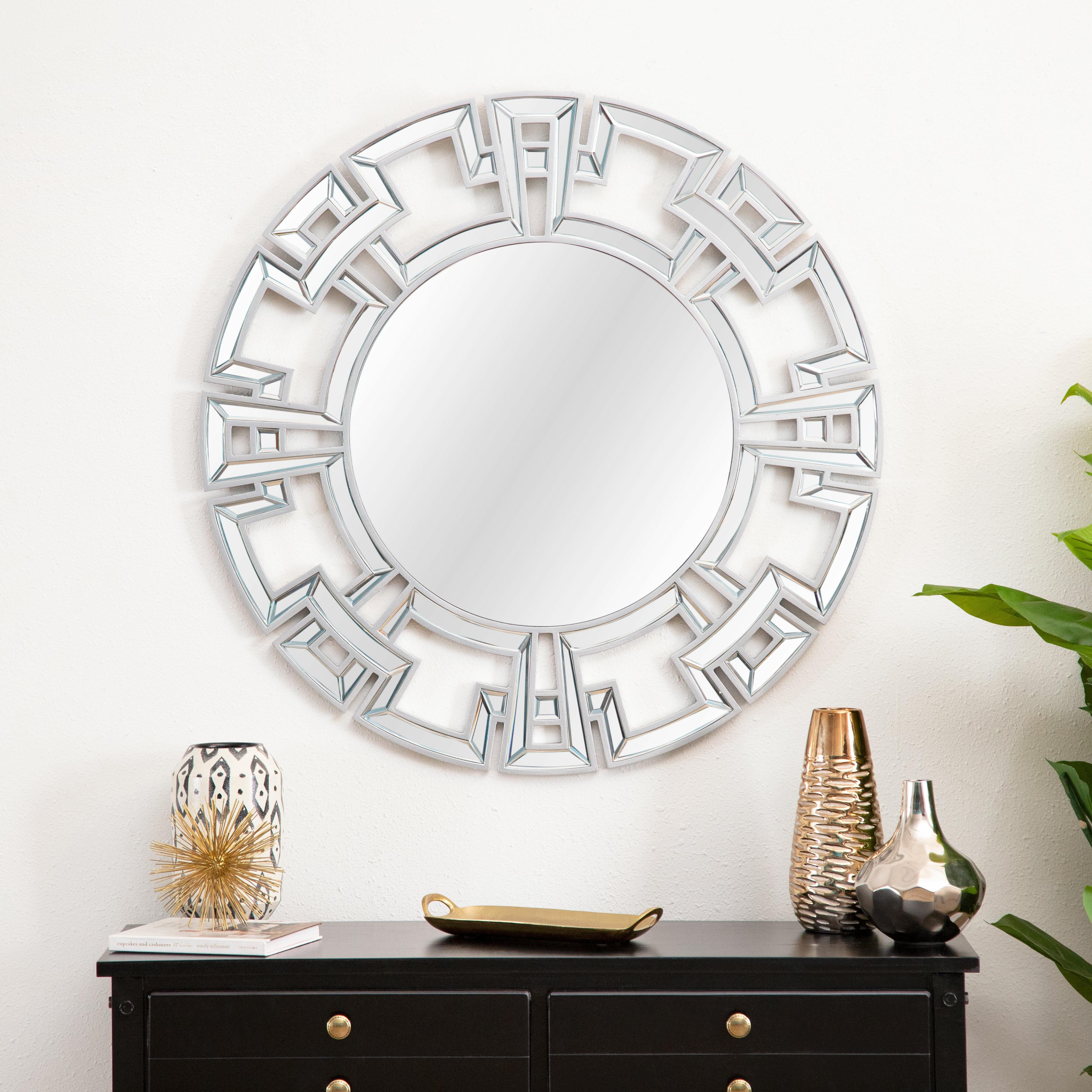 Willa Arlo Interiors Tata Openwork Round Wall Mirror With Regard To Dandre Wall Mirrors (View 4 of 20)