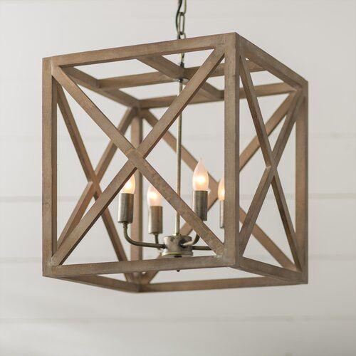 William 4 Light Lantern Square Pendant In 2019 | Rossler Intended For William 4 Light Lantern Square / Rectangle Pendants (Image 25 of 25)