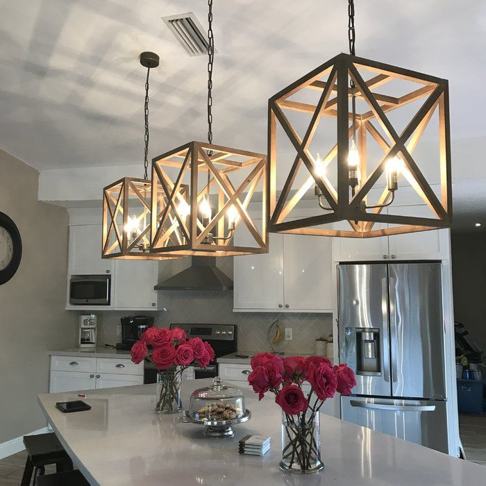 William 4 Light Lantern Square / Rectangle Pendant | Kitchen Intended For 4 Light Lantern Square / Rectangle Pendants (Image 18 of 20)