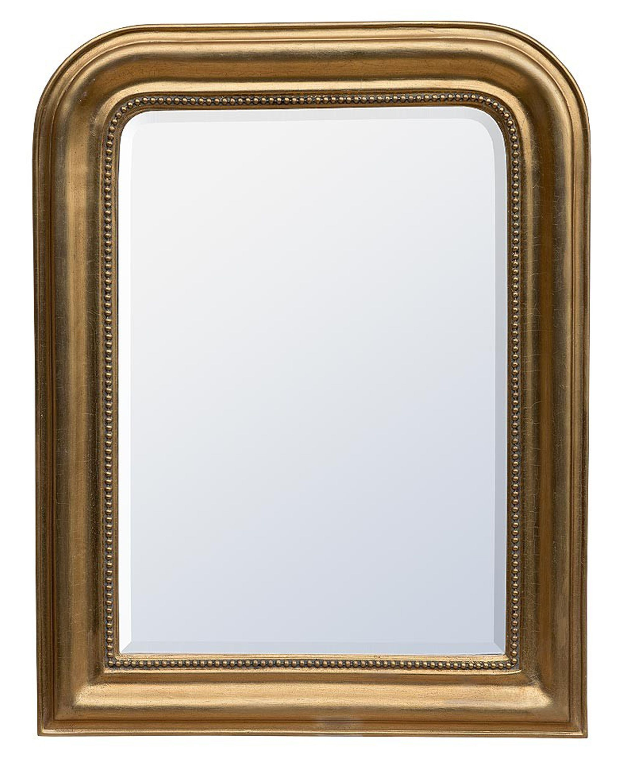 Willot – Mirrors, Louis Philippe Gold Leaf Bevelled Mirror With Modern & Contemporary Beveled Overmantel Mirrors (View 15 of 20)