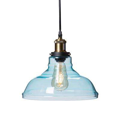 Witten 1 Light Soft Aqua Colored Glass Pendant Lamp Hd88265 Inside Whitten 4 Light Crystal Chandeliers (View 15 of 20)