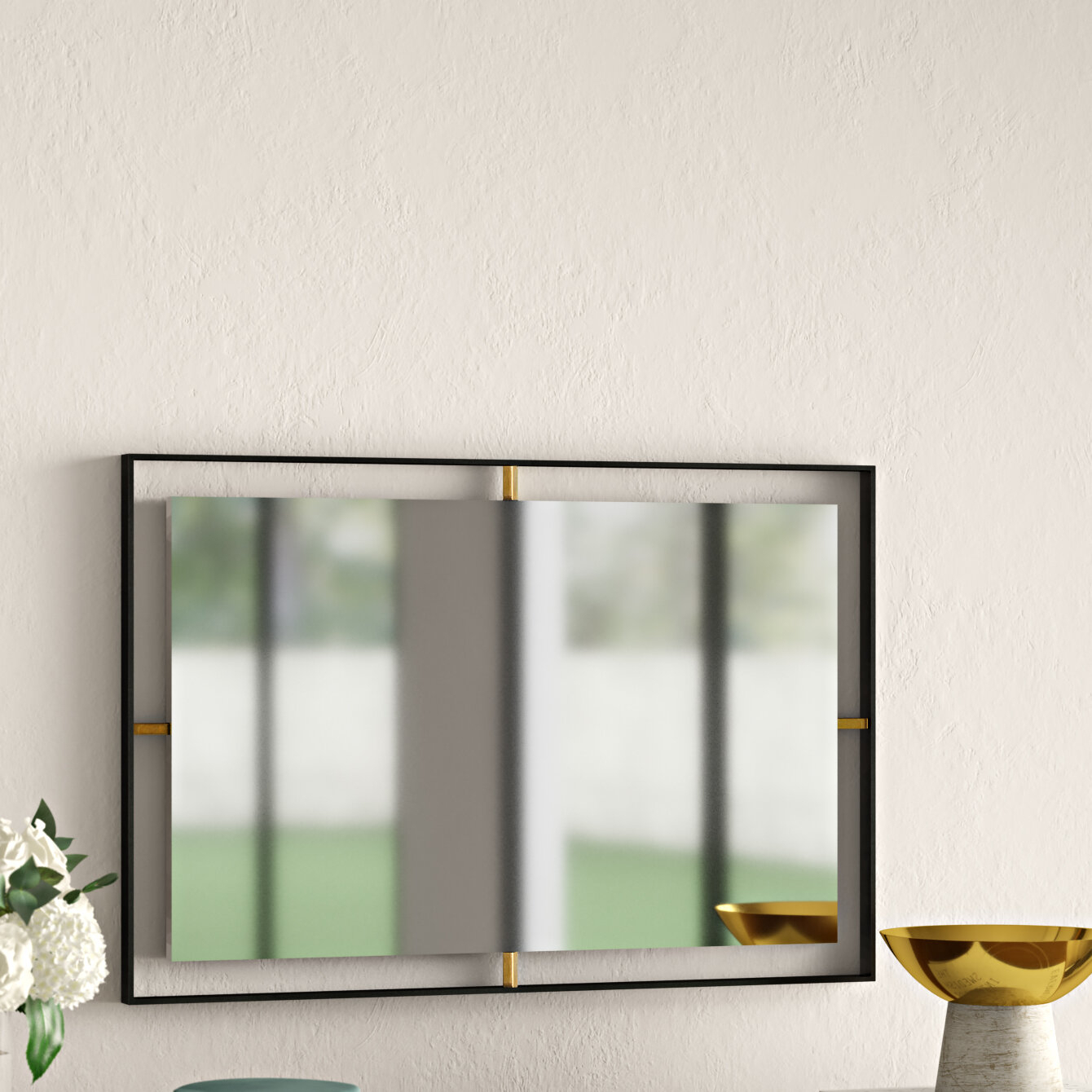 Wolbert Industrial Rectangle Accent Mirror In Lugo Rectangle Accent Mirrors (Image 20 of 20)