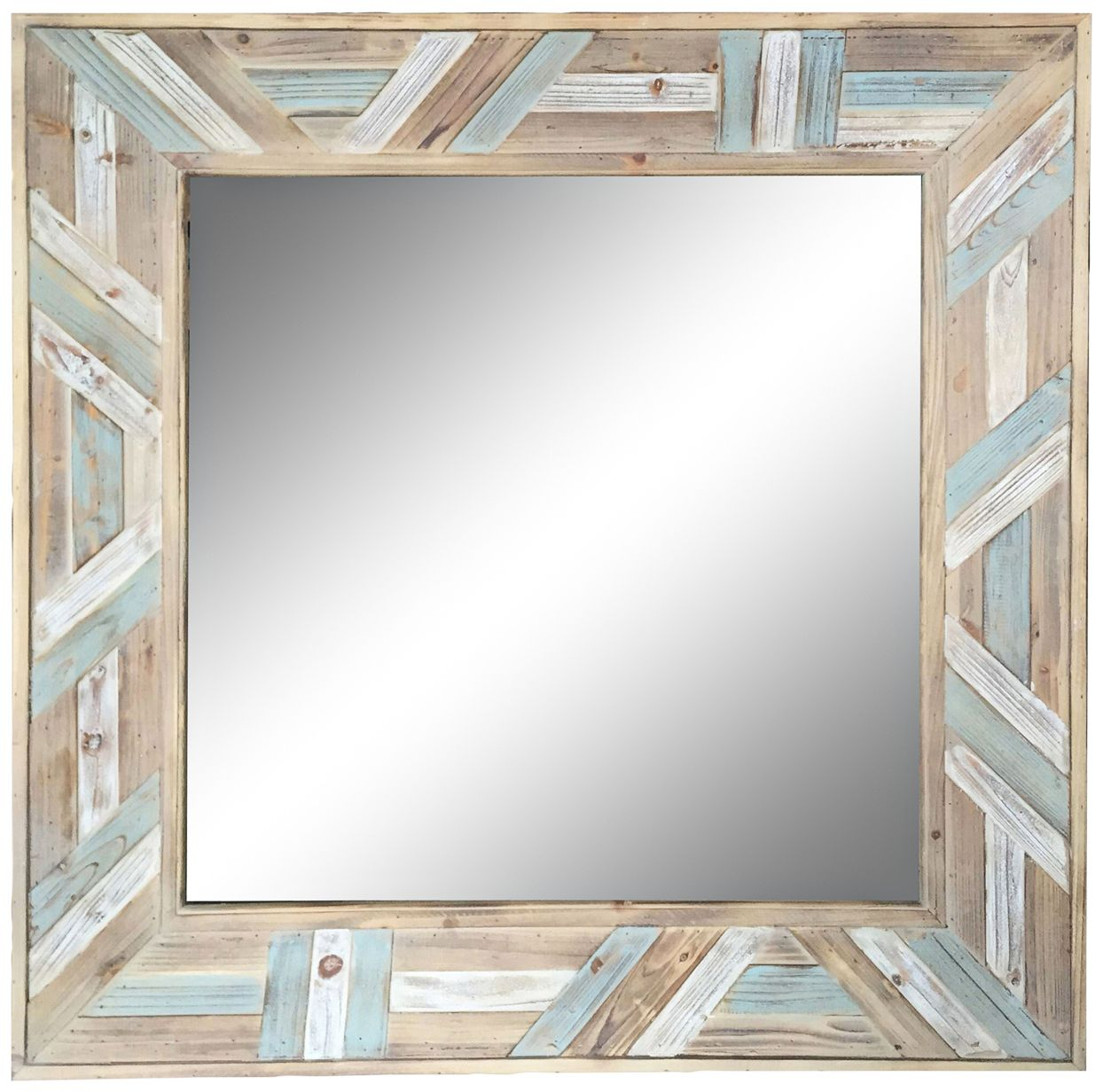 Wood Wall Mirrors Reclaimed Wood Thompson Accent Mirror Pertaining To Booth Reclaimed Wall Mirrors Accent (Image 19 of 20)