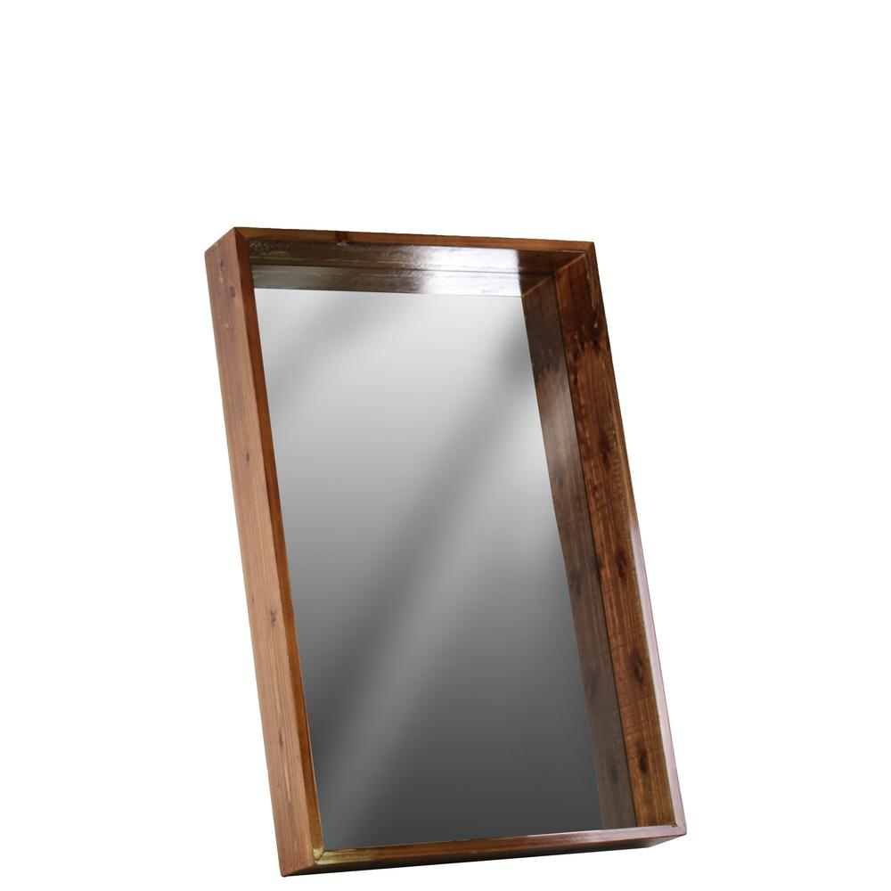 Wood Wall Mirrors Reclaimed Wood Thompson Accent Mirror With Regard To Booth Reclaimed Wall Mirrors Accent (Image 20 of 20)