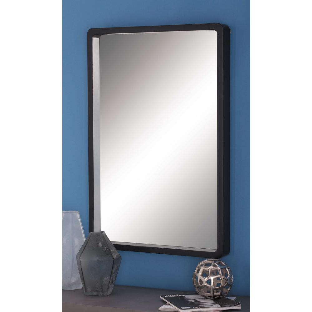 Wood Wall Mirrors Rustic Wall Modern Rectangular Framed Wall Regarding Janie Rectangular Wall Mirrors (Image 20 of 20)