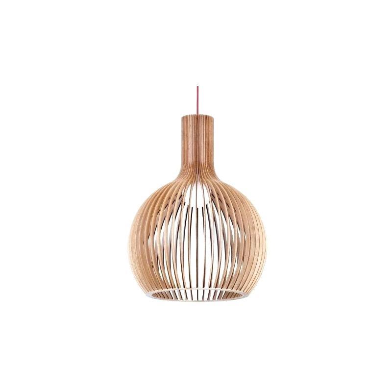 Wooden Pendant Light – Verniarhett (View 21 of 25)