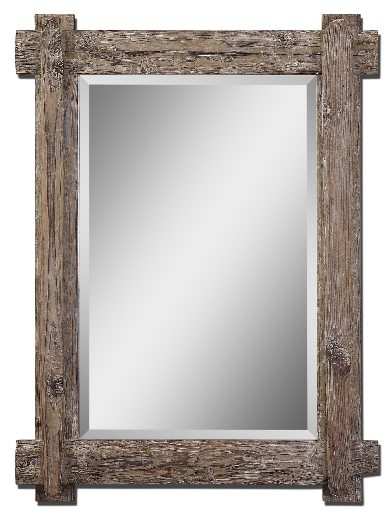 Wooden Traditional Beveled Accent Mirror Throughout Tifton Traditional Beveled Accent Mirrors (Image 19 of 20)