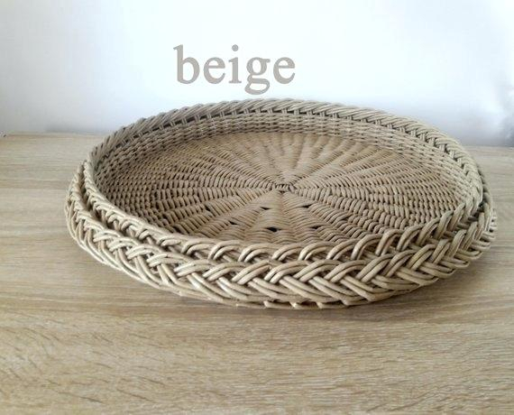Woven Tray Basket – Danishultz Inside Rustic Coffee Tables With Wicker Storage Baskets (Image 25 of 25)