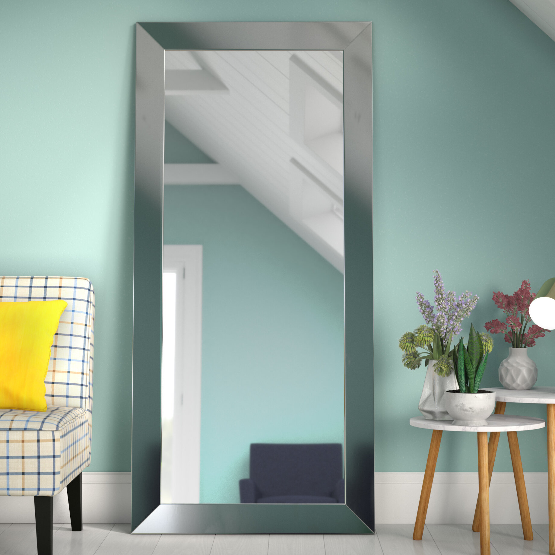 Wrought Studio Dalessio Wide Tall Full Length Mirror With Dalessio Wide Tall Full Length Mirrors (Image 20 of 20)