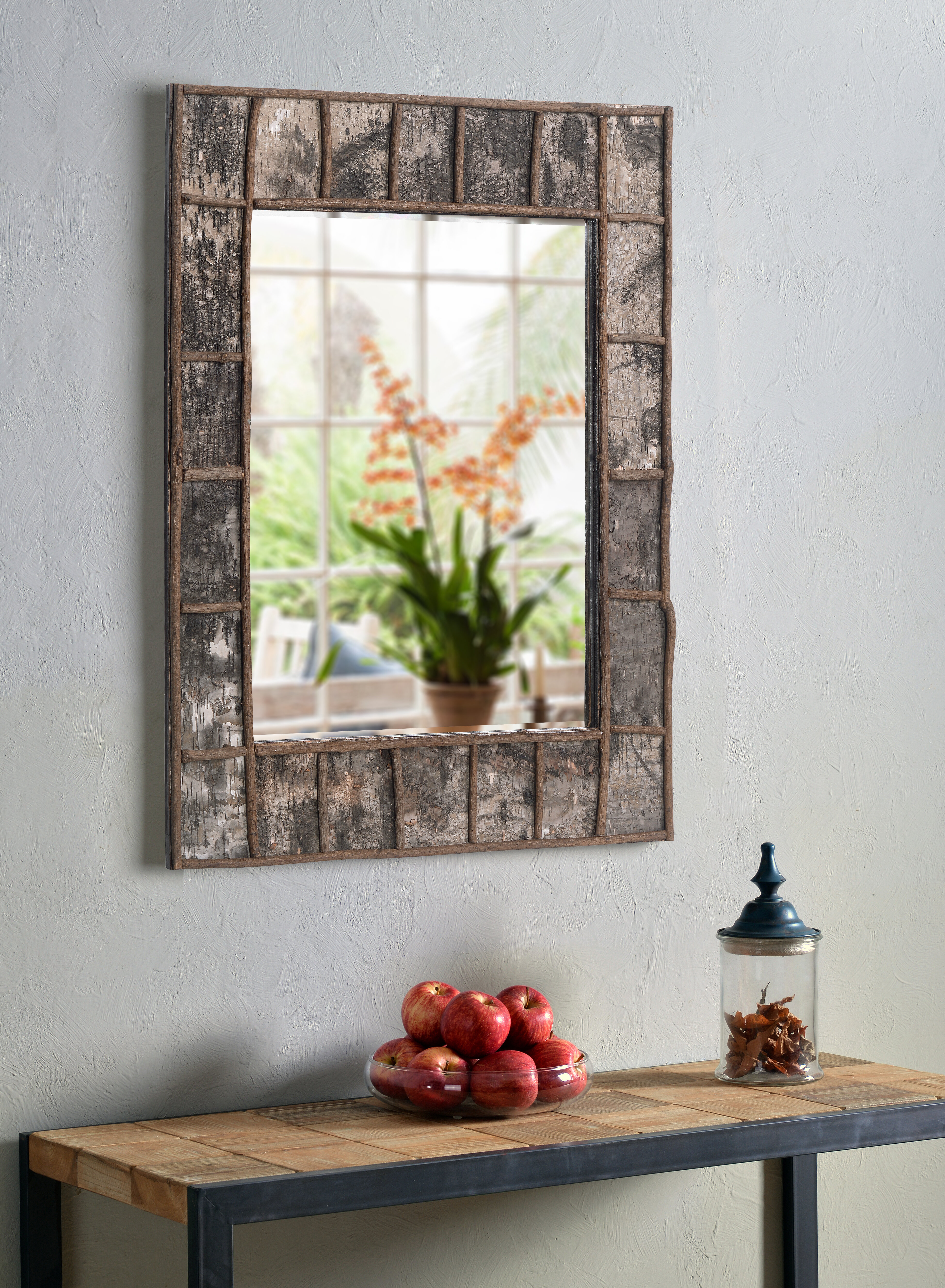 Wurth Birch Bark Traditional Beveled Accent Mirror Regarding Longwood Rustic Beveled Accent Mirrors (Image 20 of 20)