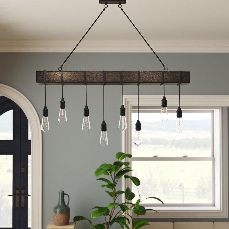 Wyckhoff 8 Light Kitchen Island Bulb Pendant Intended For Novogratz Vintage 5 Light Kitchen Island Bulb Pendants (View 17 of 25)
