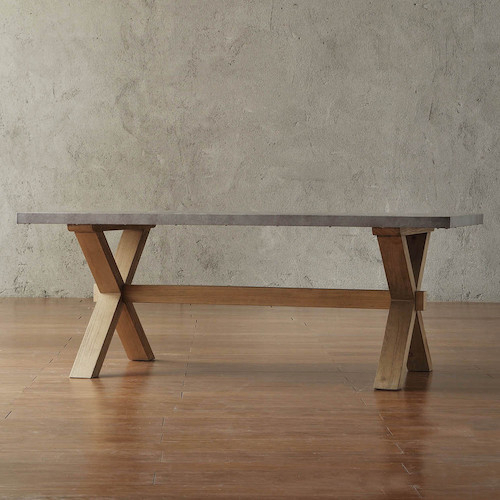 X Base Table – Look 4 Less And Steals And Deals – Page 1 Pertaining To Aberdeen Industrial Zinc Top Weathered Oak Trestle Coffee Tables (Image 22 of 25)