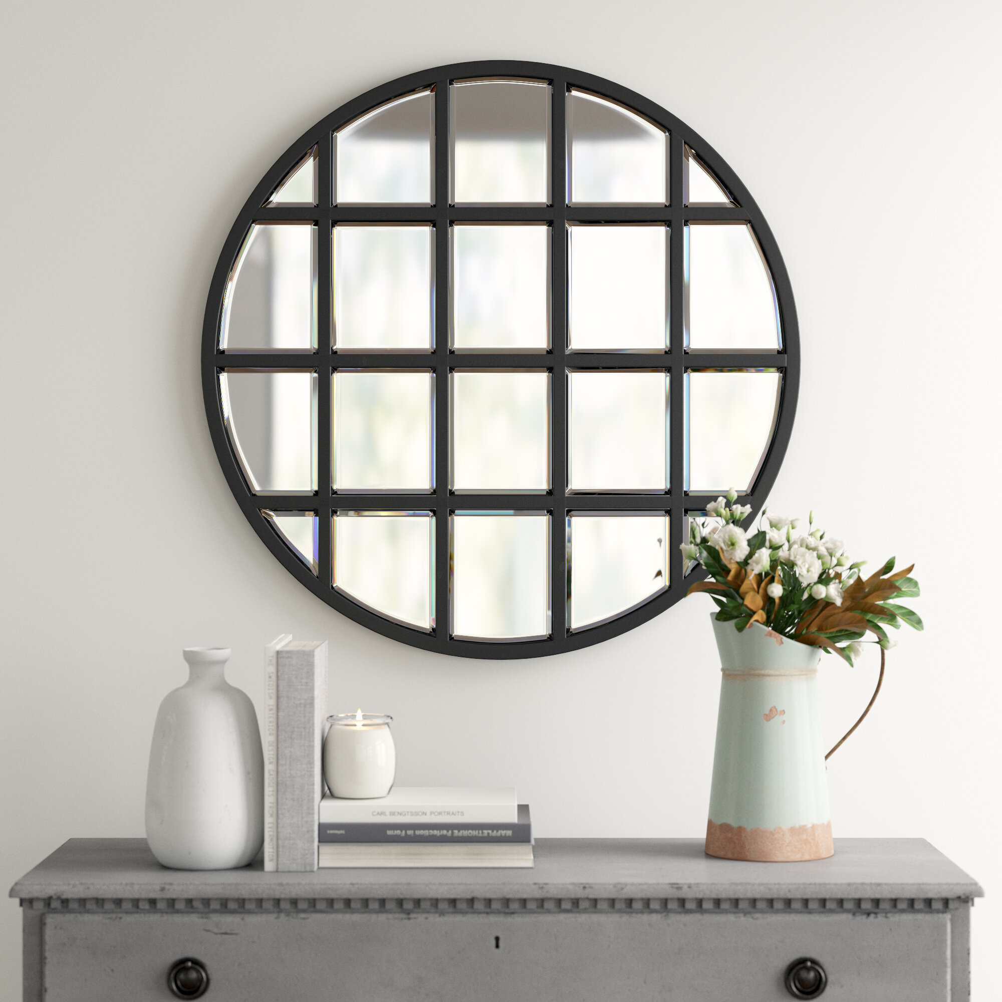 Yatendra Cottage/country Beveled Accent Mirror & Reviews For 2 Piece Priscilla Square Traditional Beveled Distressed Accent Mirror Sets (View 3 of 20)