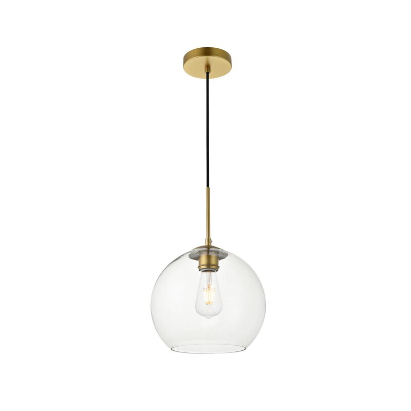 Yearwood 1 Light Single Globe Pendant With 1 Light Globe Pendants (Image 25 of 25)