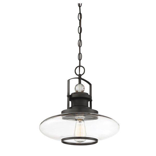 Yelton 1 Light Schoolhouse Pendant | Lights Fixture Inside Adriana Black 1 Light Single Dome Pendants (Image 25 of 25)