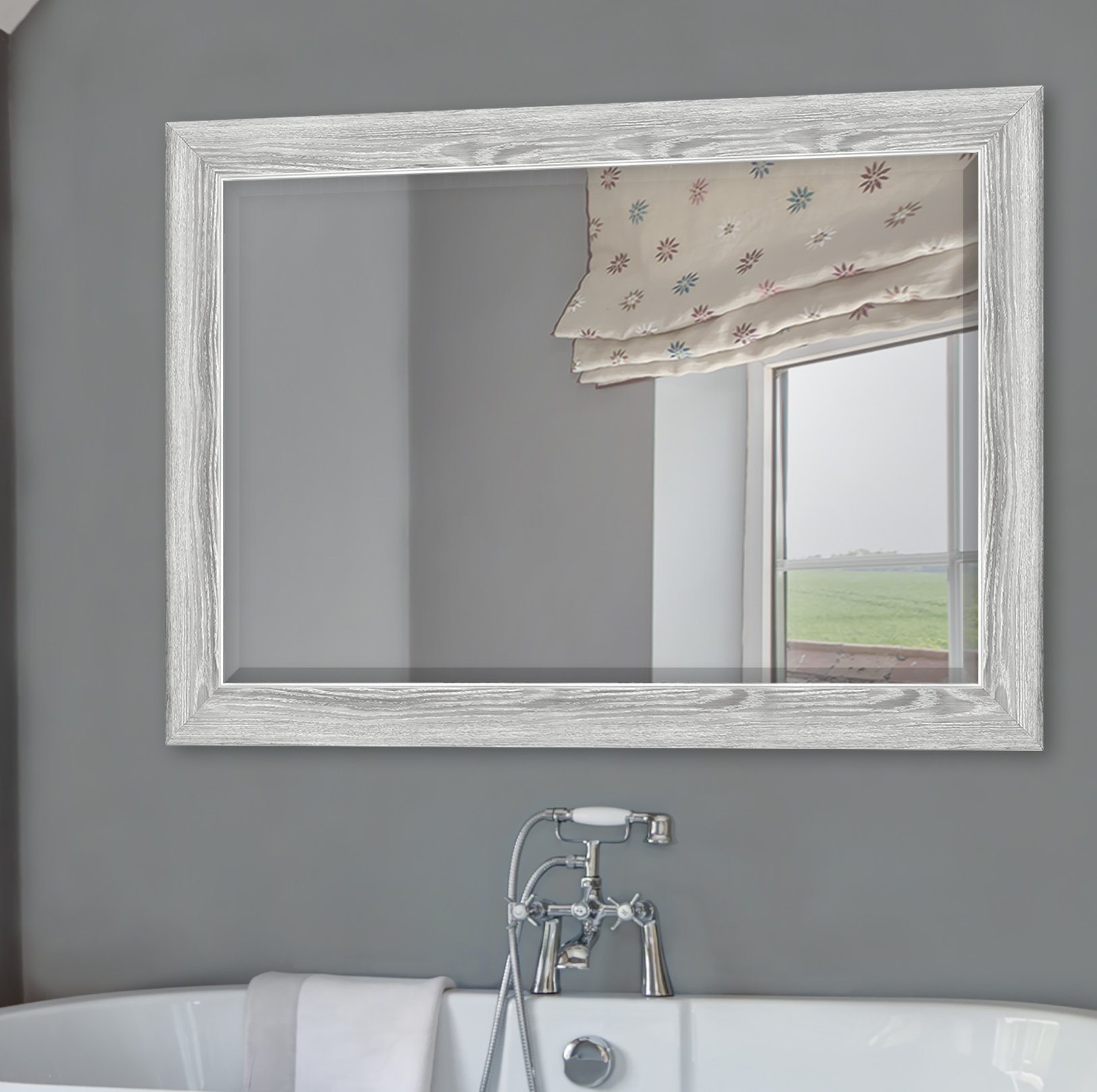 Yeung Curvature Bathroom/vanity Mirror For Landover Rustic Distressed Bathroom/vanity Mirrors (Image 20 of 20)
