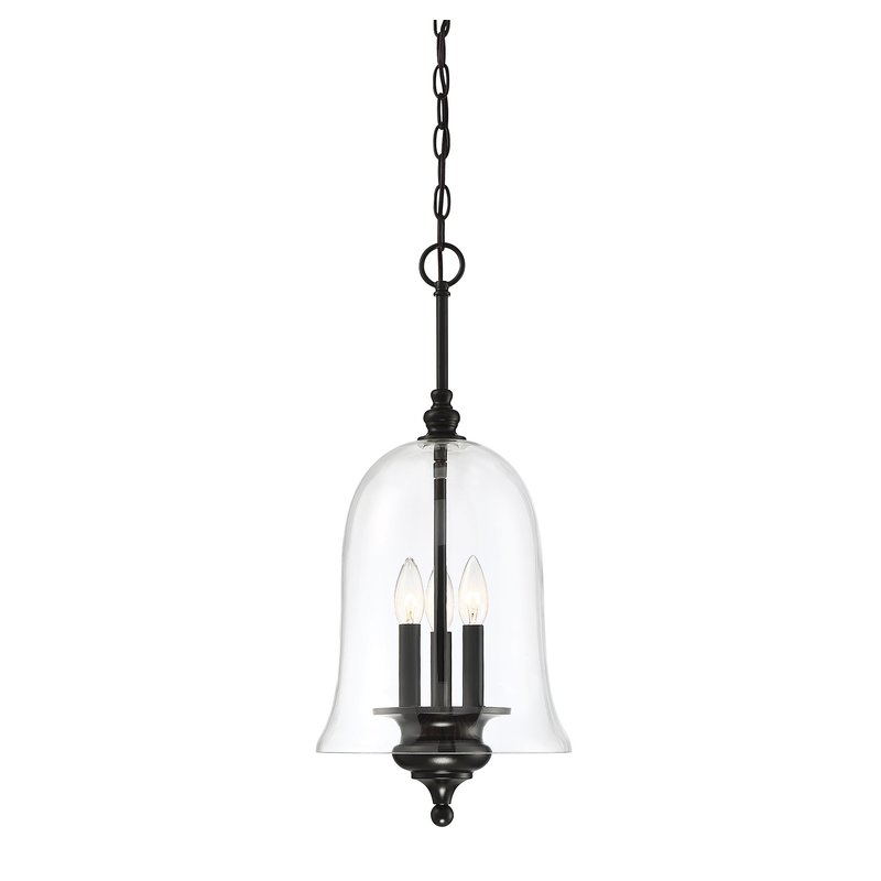 Youngberg 3 Light Single Bell Pendant Within Yarger 1 Light Single Bell Pendants (View 12 of 25)