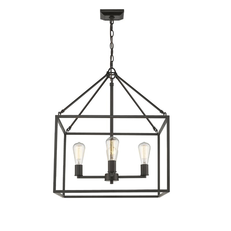 Zabel 4 Light Lantern Square / Rectangle Pendant Throughout 4 Light Lantern Square / Rectangle Pendants (Image 19 of 20)