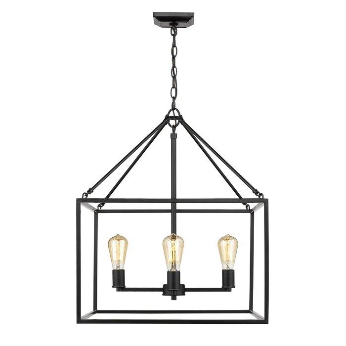 Zabel 4 Light Lantern Square / Rectangle Pendant With Odie 4 Light Lantern Square Pendants (Photo 6 of 20)