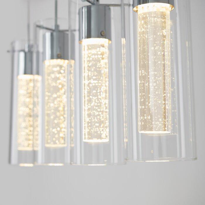 Zachery 4 Light Led Kitchen Island Cylinder Pendant Pertaining To Schutt 4 Light Kitchen Island Pendants (Photo 16 of 25)