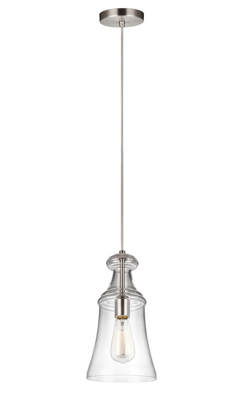 Zada 1 Light Single Bell Pendant With Regard To Carey 1 Light Single Bell Pendants (View 22 of 25)