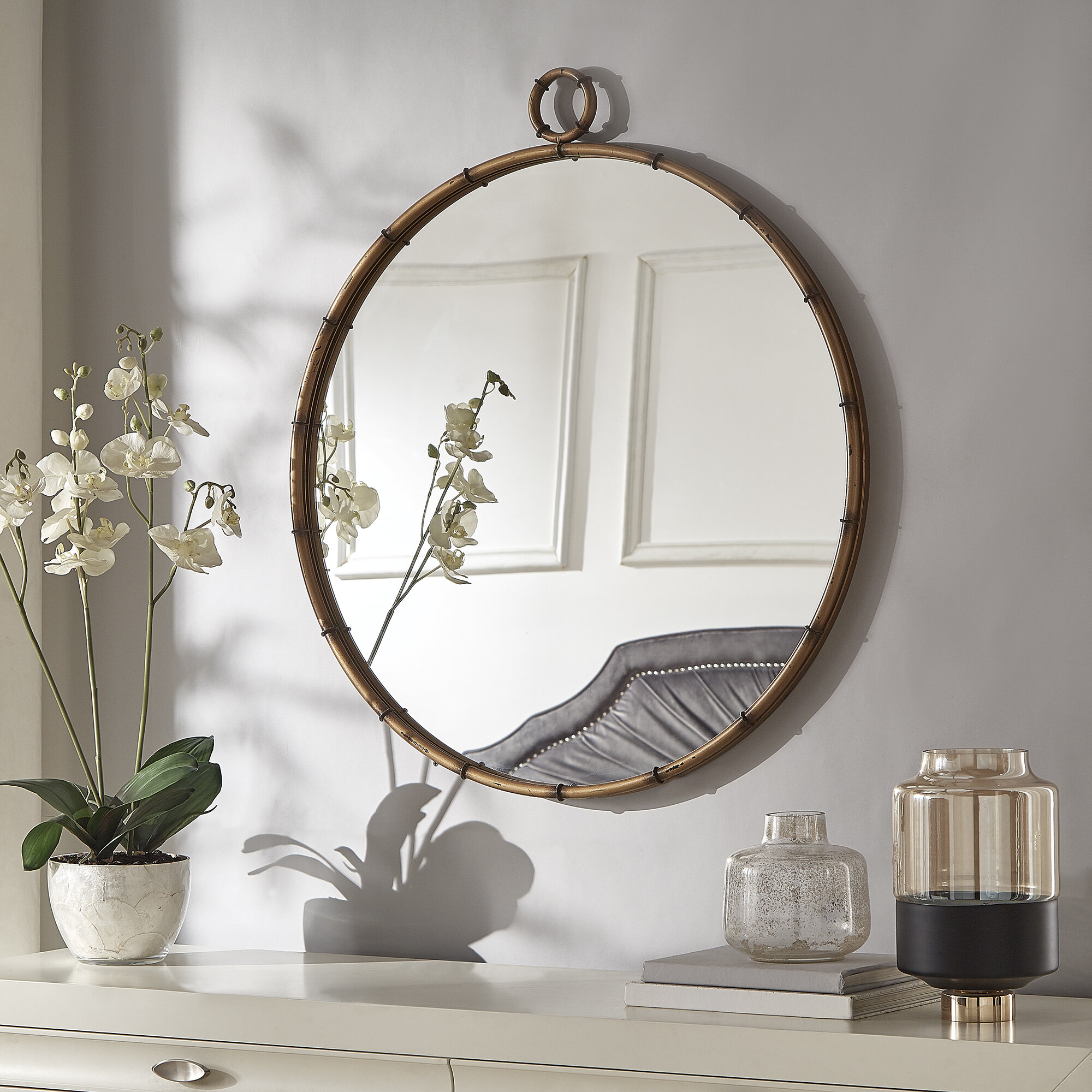 Zadie Modern And Contemporary Accent Mirror Intended For Yedinak Modern Distressed Accent Mirrors (View 12 of 20)