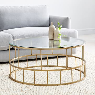 Zelda Coffee Table, Antique Brass | Park Ave Ph Living Room Pertaining To Madison Park Susie Coffee Tables 2 Color Option (View 2 of 25)