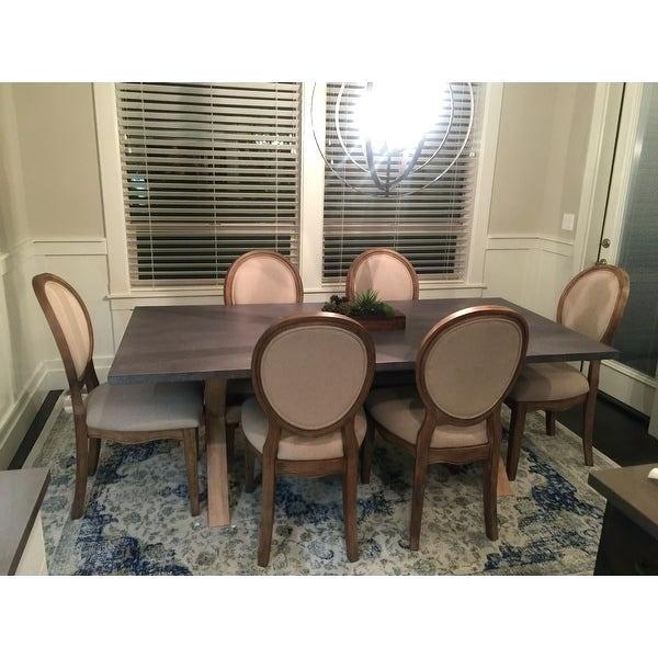 Zinc Top Trestle Dining Table – Olinconboy (Image 23 of 25)