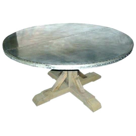 Zinc Top Trestle Dining Table – Olinconboy (Image 24 of 25)
