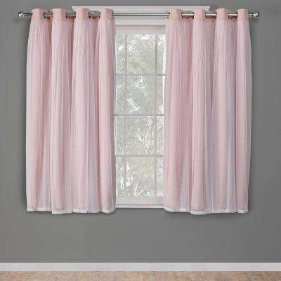 0 63.5 – Pink – Curtains & Drapes – Window Treatments – The In Elrene Aurora Kids Room Darkening Layered Sheer Curtains (Photo 21 of 25)
