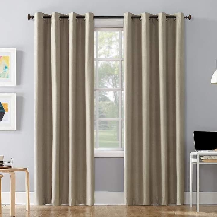 1 Panel Cameron Total Blackout Thermal Insulated Window Curtain Throughout Duran Thermal Insulated Blackout Grommet Curtain Panels (Image 1 of 25)