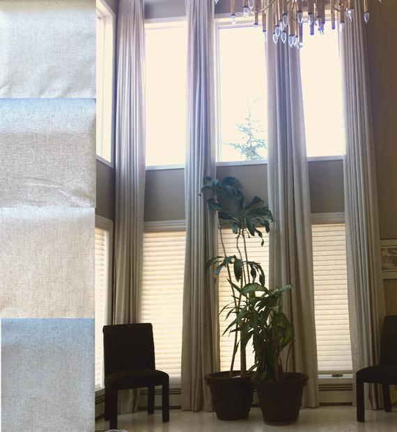 100 % Blackout Extra Long Linen Curtains (View 10 of 25)