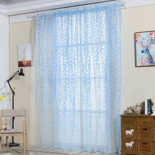 2019 French Window Willow Voile Tulle Room Window Curtain Sheer Voile Panel Drapes Curtains Rod Pocket From Shutie, $ (View 19 of 25)