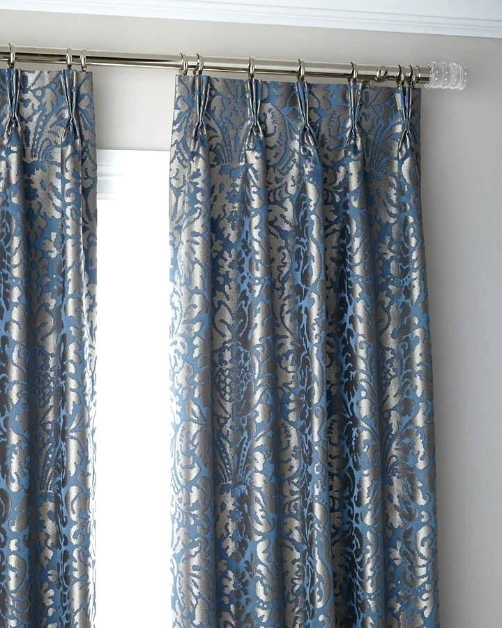 3 Fold Pinch Pleat Blackout Curtain Panel 120 Curtains Wide Intended For Signature Pinch Pleated Blackout Solid Velvet Curtain Panels (Photo 18 of 25)