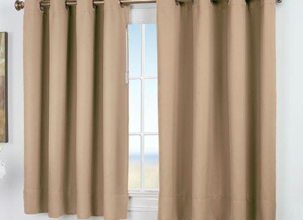 34 Grommet Curtains, Kendallin Color Block Grommet Curtain In Ultimate Blackout Short Length Grommet Curtain Panels (Photo 25 of 25)