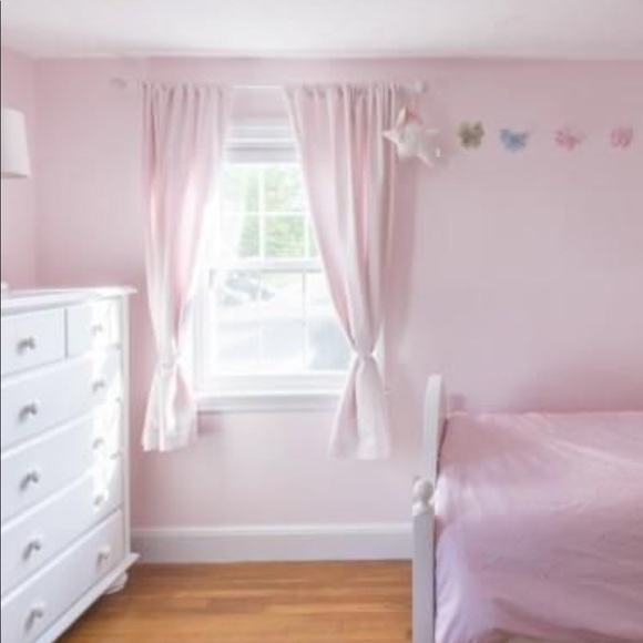 4 Pottery Barn Kids Blackout Panels White W Pink In Hayden Rod Pocket Blackout Panels (Image 3 of 25)