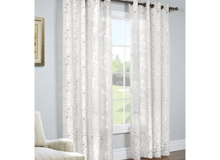 46 Burnout Curtain, Popular Burnout Sheer Curtains Buy Cheap Pertaining To Wilshire Burnout Grommet Top Curtain Panel Pairs (Image 1 of 25)