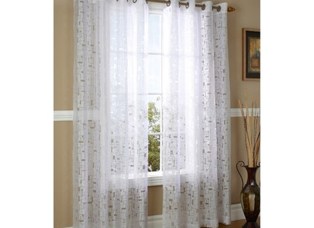 46 Burnout Curtain, Popular Burnout Sheer Curtains Buy Cheap With Wilshire Burnout Grommet Top Curtain Panel Pairs (Image 2 of 25)