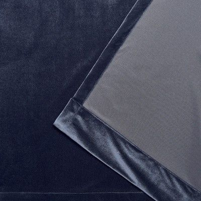 "54""x63"" Velvet Heavyweight Grommet Top Window Curtain Panel In Velvet Heavyweight Grommet Top Curtain Panel Pairs (Image 3 of 25)"