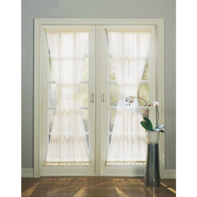 72 In White Polyester Rod Pocket Light Filtering Sheer Single Curtain Panel Within Light Filtering Sheer Single Curtain Panels (Photo 2 of 25)