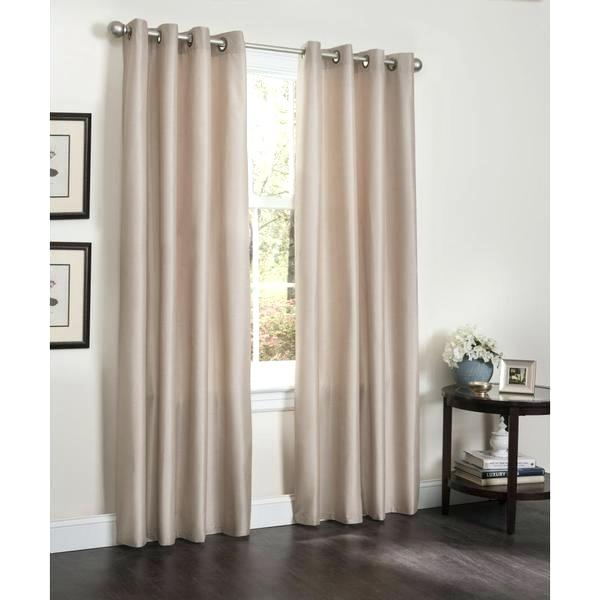 90 Inch White Curtains Faux Silk Insulated Blackout Curtain For Insulated Grommet Blackout Curtain Panel Pairs (Photo 17 of 25)
