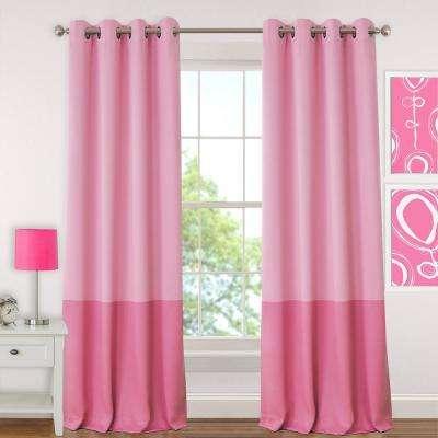 94.5 – 97.5 – Pink – Curtains & Drapes – Window Treatments Regarding Elrene Aurora Kids Room Darkening Layered Sheer Curtains (Photo 25 of 25)
