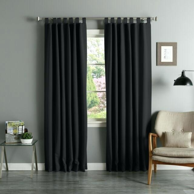 95 Inch Blackout Curtains – Greeniee.co Within Superior Solid Insulated Thermal Blackout Grommet Curtain Panel Pairs (Photo 15 of 25)