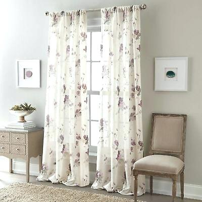 95 Sheer Curtain Panels Zen Floral Inch Rod Pocket Semi Inside Infinity Sheer Rod Pocket Curtain Panels (Photo 19 of 25)