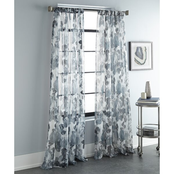 96 Inch Curtains Teal | Wayfair With Regard To Luxury Collection Cranston Sheer Curtain Panel Pairs (Photo 18 of 25)