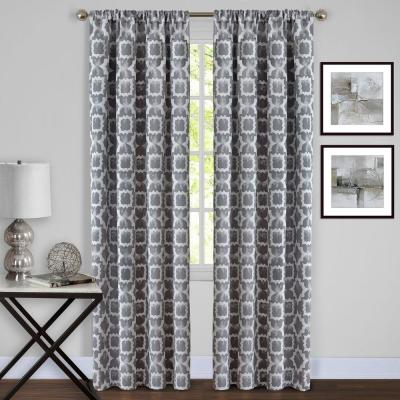 Achim Willow Grey Polyester Rod Pocket Curtain – 42 In (View 22 of 25)