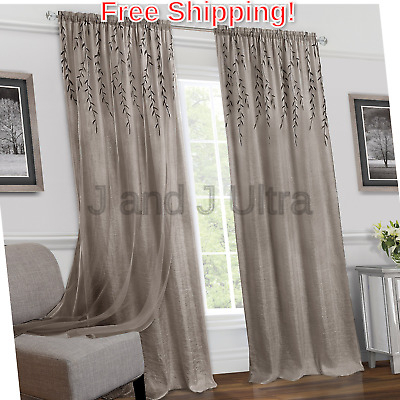 Achim Willow Rod Pocket Window Curtain Panel – $ (View 10 of 25)