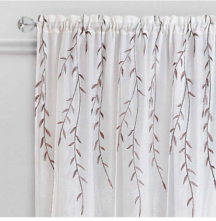 Achim Willow Rod Pocket Window Curtain Panel, 42X63 In 2019 With Regard To Willow Rod Pocket Window Curtain Panels (View 8 of 25)