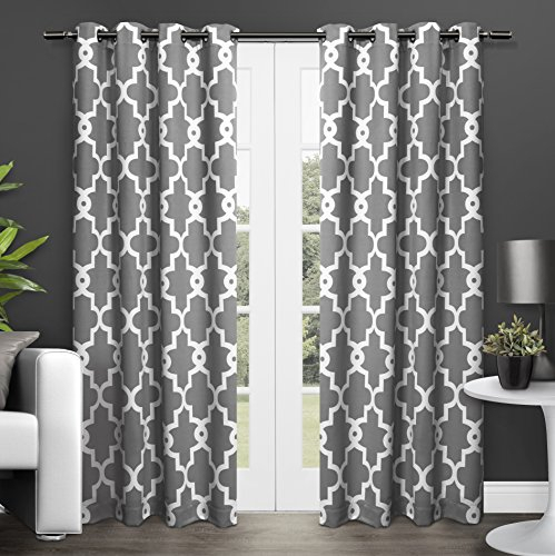 Amazon Deal – Exclusive Home Ironwork Sateen Woven Blackout Within Woven Blackout Grommet Top Curtain Panel Pairs (Image 2 of 25)