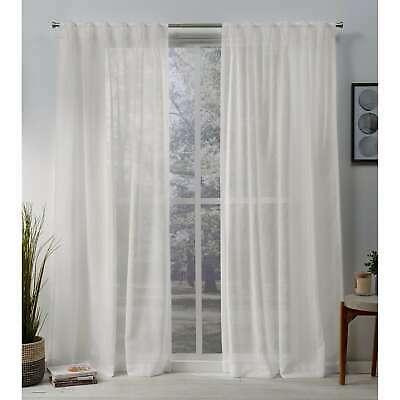Ati Home Belgian Jacquard Sheer Double Pinch Pleat Top Intended For Double Pinch Pleat Top Curtain Panel Pairs (Image 2 of 25)